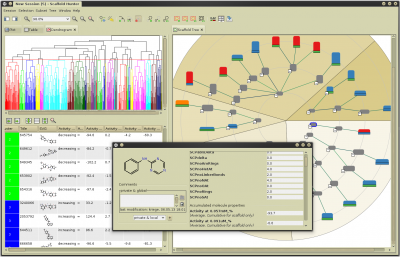 Scaffold Hunter - A tool for the visual analysis and exploration of chemical space
